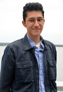 Photograph of Sam Avila, student at Roger Williams University