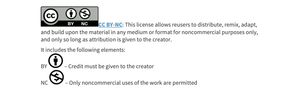 Creative Commons Attribution Non-Commercial License