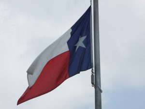 The Texas state flag is shown here