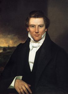 A painting of Joseph Smith, Jr.- the founder of Mormonism
