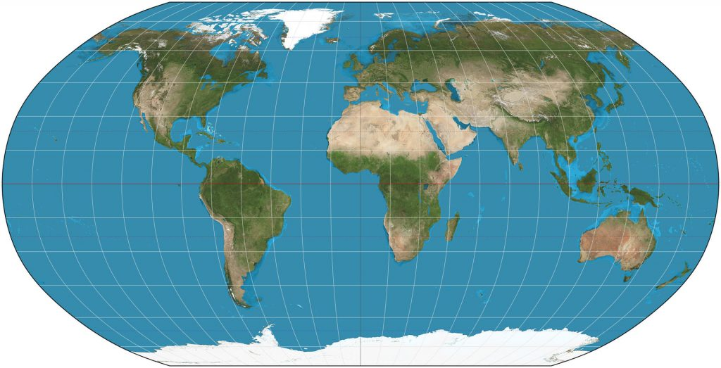 Robinson planisphere projection.